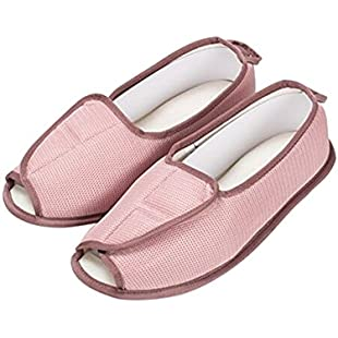 Rong Extra Wide Comfortable Loafer, Adjustable Slippers Diabetic Orthopedic Edema Swollen Feet Indoor Lazy Shoes,Women Size UK5-7:Downloadlagump3gratis