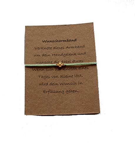 DIY Armband Wunscharmband Glücksarmband *Kleeblatt* verschiedene Farben Handmade