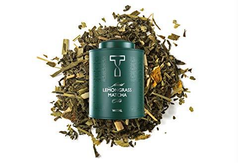 WITAL TEA LEMONGRASS MATCHA - Zitronenschalen Eisenhut Tee - Aromatisierter Grüner Tee mit Matcha - 120g Dose