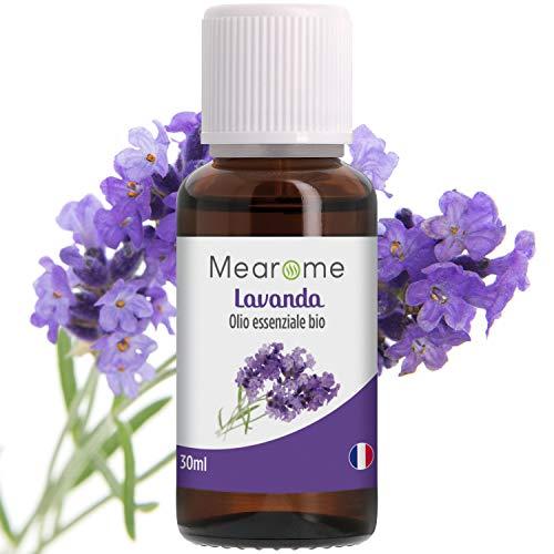 Olio Essenziale di Lavanda • 100% Puro Naturale Vegano • Olio Essenziale per Aromaterapia per Massaggi per Diffusori • Certificato OEBBD OECT e Agricoltura Biologica • 30 Ml Mearome