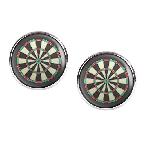 Mylery Ohrstecker Paar mit Motiv Darts Dart-Scheibe Bulls-Eye silber 16mm