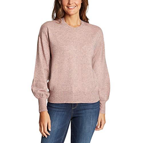 Ella Moss Womens Puff Sleeve Sweater (Gardenia, Medium)