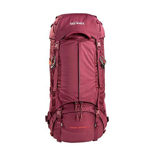 Tatonka Yukon 50+10 Women - Trekkingrucksack mit Frontzugriff für Damen - 60 Liter - bordeaux red