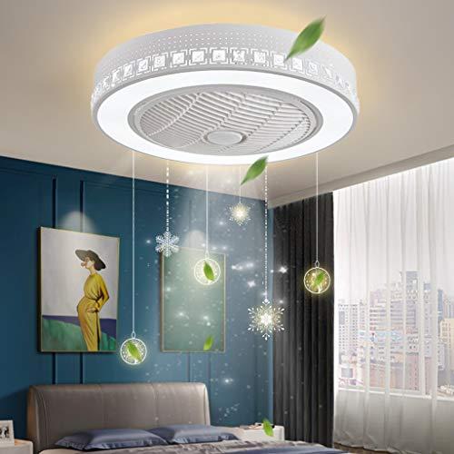Ventilador De Techo Con Luz Lámpara 72W LED Moderna Con Mando A Distancia Regulable Luz Ventilador Invisible Velocidad Del Viento Ajustable Sala Estar Oficina Sala Niños Plafón Iluminación