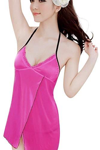 Dameshouder 's nachts verwarmen pyjama's sche kant backless Een transparant Jongen Chic badjas Negliggee nachthemd