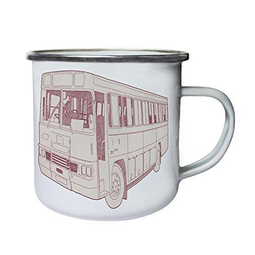 Vintage Bus Gift Funny Art Retro Retro, lata, taza del esmalte 10oz/280ml...