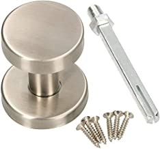 KOTARBAU Deurknop van roestvrij staal, deurknop, niet draaibaar, kogelknop, cilindervorm, deurgreep, deurklink, deurbesla...