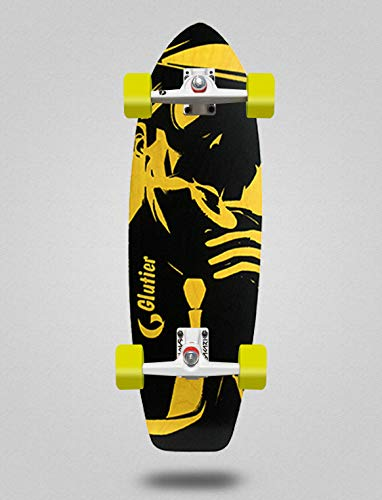 Glutier Surfskate Complete with SGI Sakari Surf Skate Trucks - Mafia Yellow 31