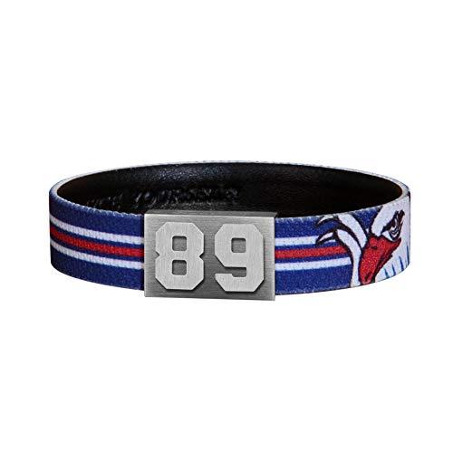 BRAYCE® Adler Mannheim Armband mit Deiner Trikot Nummer 00-99 I Eishockey pur mit dem Mannheim Trikot am Handgelenk personalisierbar & handgemacht