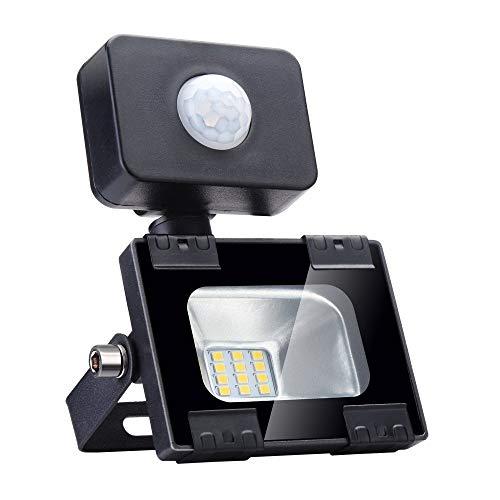 Luces de inundación PIR para exteriores de 20 W, sensor de...