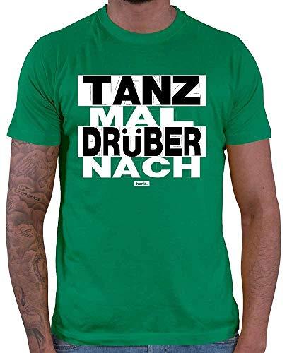 HARIZ Herren T-Shirt Tanz Mal Drüber Nach Sprüche Schwarz Weiß Plus Geschenkkarten Grün XXL