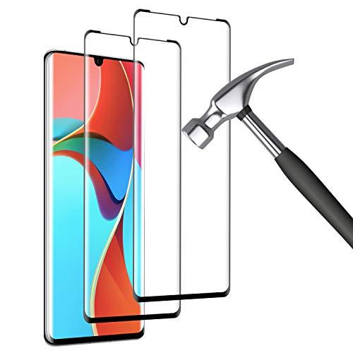 Mriaiz Verre Trempé pour Huawei P30 Pro, (2 Pièces) 3D Couverture Complète [Dureté 9H] [Anti-Scratch] [sans Bulles] HD Film de Protection d'écra pour Huawei P30 Pro