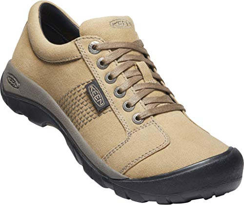 KEEN mens Austin Canvas Oxford, Brindle/Bungee Cord, 7 US
