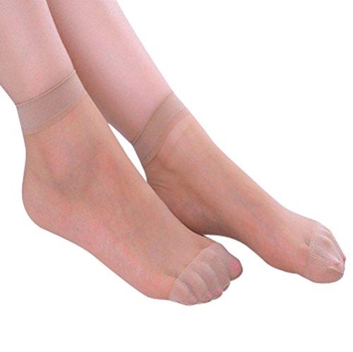 Hunpta @ 10 Paar Feinsöckchen Damen Frauen Socken Ultradünne Socken Kurze Seidenstrümpfe