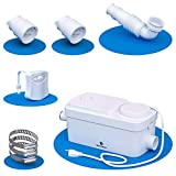 Silent Venus Basement Shower Pump (white) - Light Duty Gray Water Pump - Upflush Toilet System - Bathroom Sink - Motion Light Included