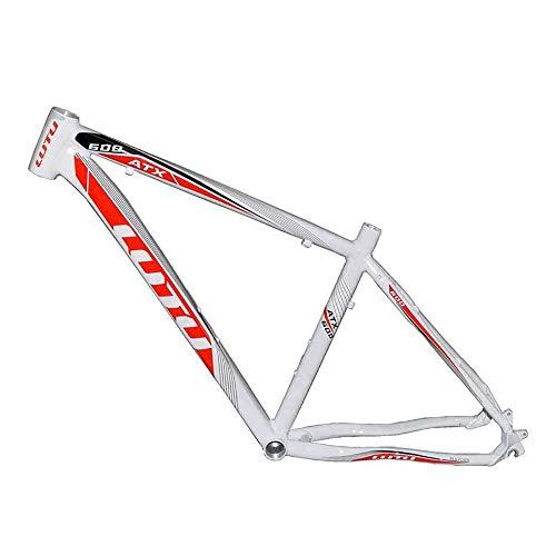 Fahrrad Rahmen Aluminiumlegierung Rahmen Mountainbike Weiß Schwarz 26 Zoll Ultra Light Frame Fahrradrahmen (Farbe : Black, Size : One Size)