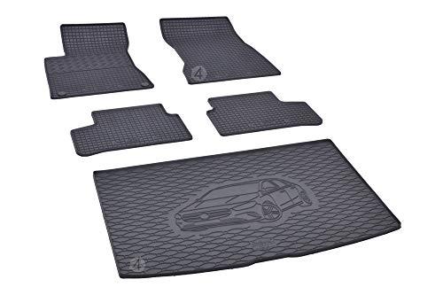 Passgenaue Kofferraumwanne und Gummifußmatten geeignet für Mercedes B-Klasse W247 ab 2019