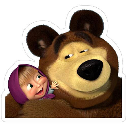 BreathNenStore Masha and The Bear masha and The Bear Stickers (3 Pcs/Pack) 1165988554203