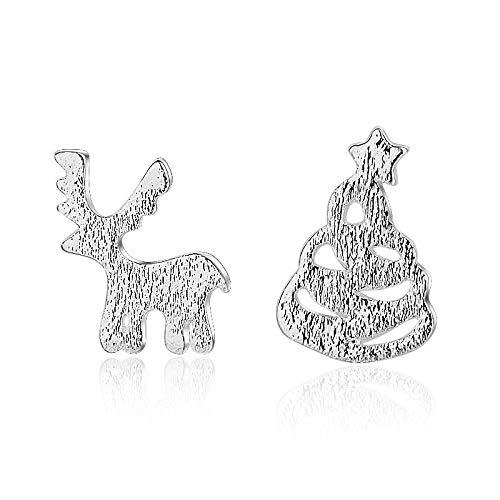 Europäische und amerikanische Ohrringe Frauen süße Weihnachtsbaum Elch Fawn Ohrringe Weihnachten Ohr Schmuck