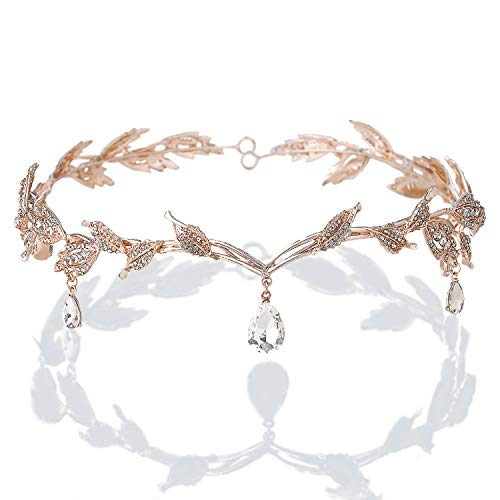 BABEYOND Braut Stirnband mit Rhinestone Brautjungfer Haarband Art Deco Tanzball Kopfschmuck österreichisches Kristall Hochzeit Accessoires