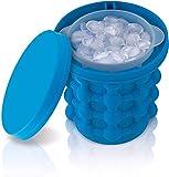 Surfilter Ice Genie Ice Cube Maker, Cubo de hielo para ahorrar espacio, tiene capacidad para 120 cubitos de hielo, para uso en interiores/exteriores