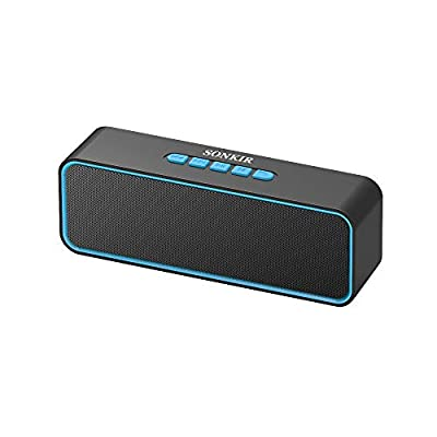 Sonkir Portable Bluetooth Speaker, TWS Bluetooth 5.0 Wireless Speaker with 3D Stereo Hi-Fi Bass, Built-in 1500 mAh Battery, 12H Playtime (Blue) from Sonkir