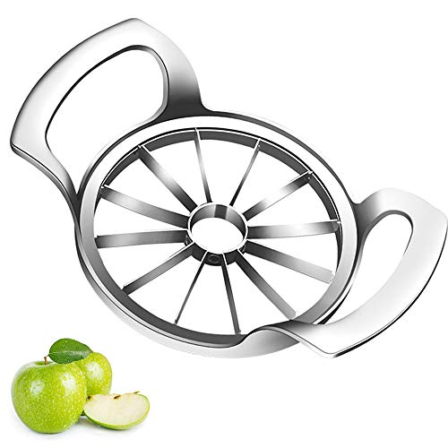 Sandewily Apple Slicer Upgraded Version 12-Blade Extra Large Apple Corer Peeler,Stainless Steel Ultra-Sharp Apple Cutter, Pitter,Wedger, Divider Up to 4 Inches Apples