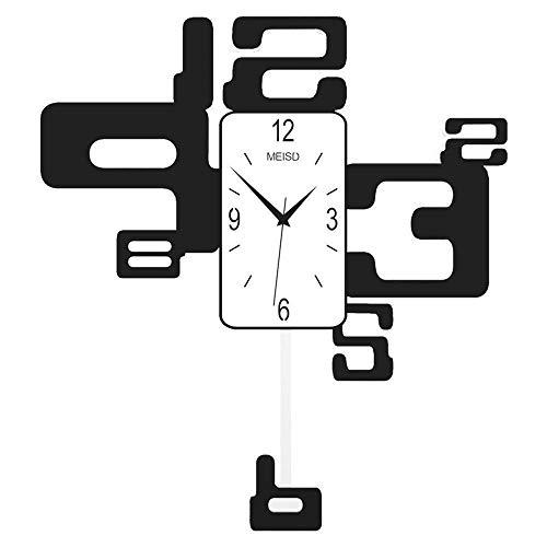Reloj de Pared Números arábigos Reloj de péndulo Mudo Reloj de Sala de Estar Simple Oficina GiftM55 * 61cm