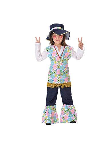 DISBACANAL Disfraz Hippie niña - -, 10 años