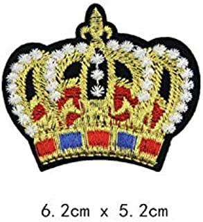 10 pcs of Wholesale Iron on Fabric Patch for Clothing Hat/Embroidered Sew on Applique Cute Patch Fabric Badge Garment DIY Apparel Accessories - Crown (WFB-38) (Style 6)