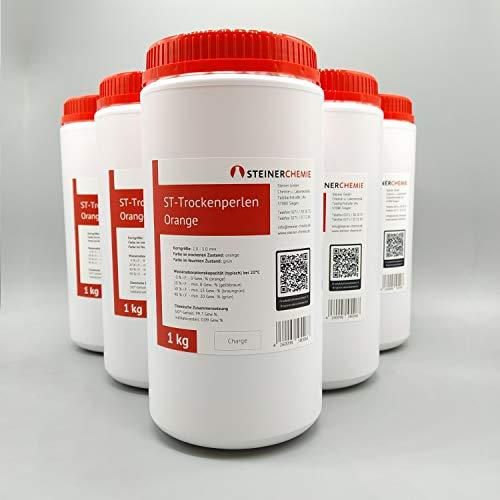 ST-Trockenperlen Orange (Silikagel, Trockenmittel), regenerierbar, 6 x 1 kg Dose