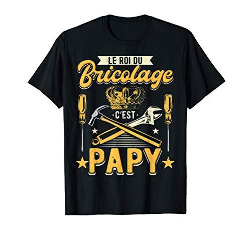 Homme Papy Bricoleur Homme Humour Grand-Père Bricolage Papou T-Shirt