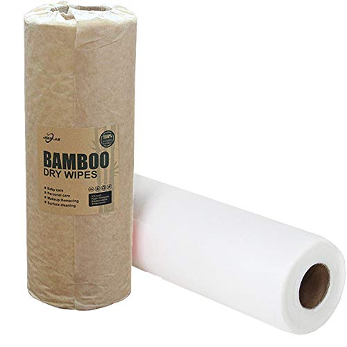Jebblas Bamboo Kitchen Roll | Washable Kitchen Towels Made out of Bamboo Fibers | Softer & More Absorbent Than Regular Paper Towels | Eco Friendly Cleaning Product | Versatile & Tear-Resistant 2 Roll