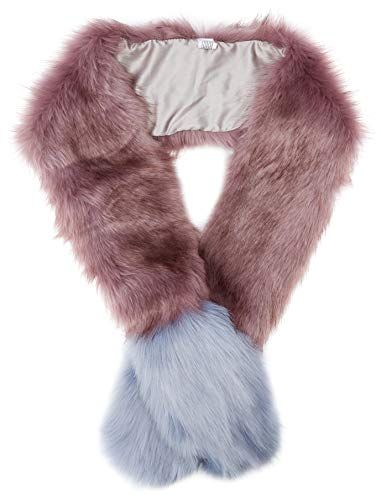 New Look Pastel Faux Fur 6035028 estola, Morado (Purple Pattern 59), Talla única (Talla del fabricante: 99) para Mujer