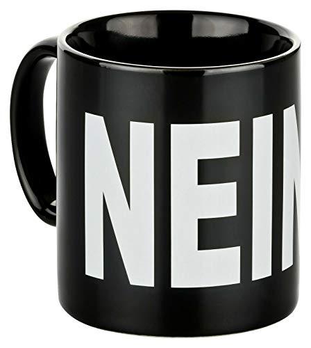 Tasse NEIN ! schwarz Kaffeetasse Spruchtasse Keramik Becher 300ml Spülmaschinenfest