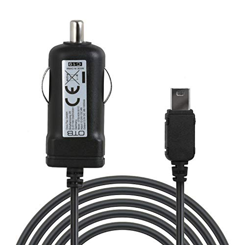 Wicked Chili KFZ-Ladegerät mit integrierter TMC Antenne kompatibel mit NAVIGON 92, 72, 42, 40, 20, 631, 7310, 7210, 6350, 4310, 4350 (Premium, Plus, Live, Easy, Max) 1m miniUSB Auto Ladekabel mit 1A