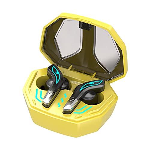 AMYMGLL Auriculares Bluetooth, Auriculares internos, Auriculares inalámbricos, micrófono Integrado, reducción de Ruido, batería de Larga duración, Adecuado para Deportes/música, E