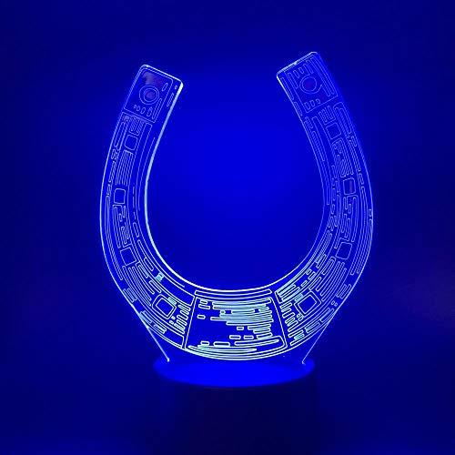 Lámpara De Ilusión Óptica 3D-Star Wars Vehículo En Forma De U Luz Led-Luz De Noche Para Niños Luz De Decoración De Habitación De Niño Regalo-Control Remoto