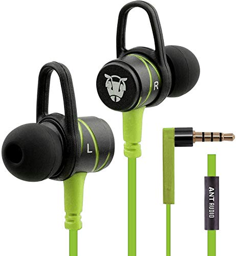 (Renewed) Ant Audio W56 Wired in Ear Headset  Lime Green