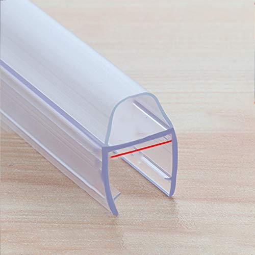 Sello de ducha,Junta de mampara de ducha,Tira de sellado para mamparas de ducha,sello de plástico de goma tipo H para 8/10/12mm de vidrio curvado o recto,sello inferior de puerta de ducha (1.2 m)