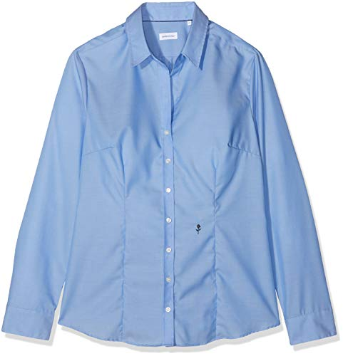 Seidensticker Damen Hemdbluse Langarm, Blau (Mittelblau 14), 36