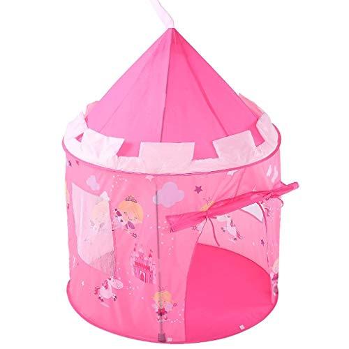 XBETA Carpa for niños Niños Princesa Pink Play-House Pop Up Carpa