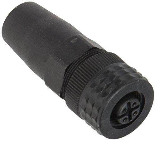 Telemecanique Sensors XZCC12FDP40B Rechte Connector, Vrouwelijk, M12-formaat, 4-pins, kunststof kraag, PG7-kabelwartel, 3 A Huidig
