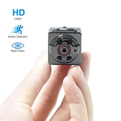 TangMi Mini-Überwachungskamera, Full-HD mit 1080P, Kamera mit Bewegungsmelder, auch für das Auto, kabellos, aus Aluminium