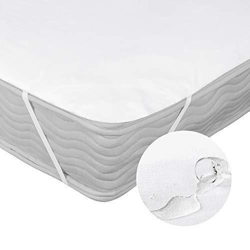 Deconovo Matratzenschoner Wasserdicht Atmungsaktive Matratzenauflage Matrazenschutzbezug 100% Baumwolle Molton 1er Set, Weiß, 90x200 cm