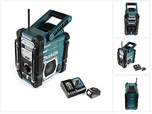 Makita DMR 112 RT1 Akku Baustellen Radio 7,2-18V Bluetooth DAB+ + 1x 5,0Ah Akku + Ladegerät
