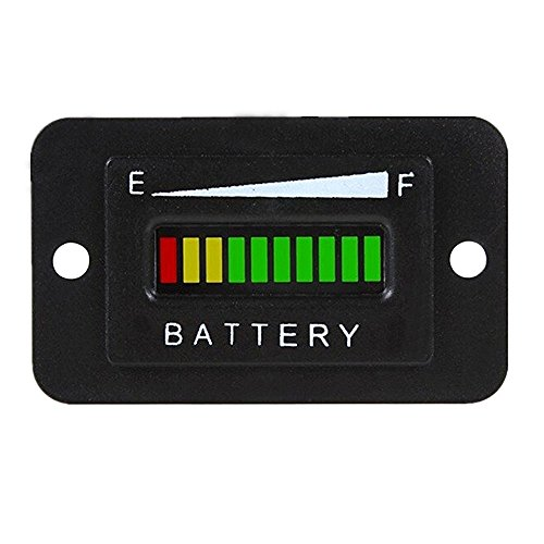 CocoMocart 48V LED Battery Indicator Meter Gauge for EZGO Club Golf Cart...