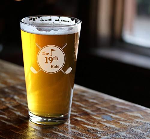 DKISEE Grote Meren Pint Glas, geëtst Bierglas, Grote Meren bier geschenk, Gegraveerd Pint Glas, De Grote Meren, 16 Ounce Dikke Onderkant Duidelijk Wijnglas 16 oz G003