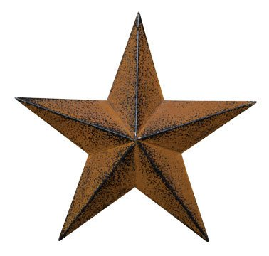 Grace Home Metal Patrotic Old Glory American Flag Barn Star July of 4th Decoration (12-Rust)