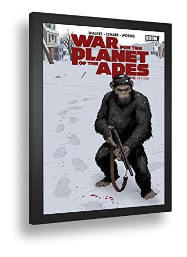 Quadro Decorativo Poste Guerra No Planeta Dos Macacos